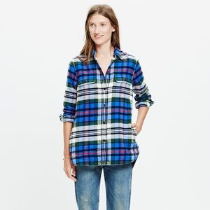 Madewell Flannel in Larchmont Plaid